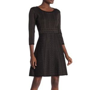Nina Leonard Geometric Print Sweater Dress Size M